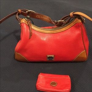 Dooney & Bourke red Satchel and coin purse